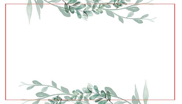 Kartica za sedežni red na poroki - Naravni lističi
